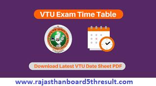 VTU Time Table 2021