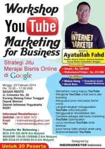 workshop Youtube marketing yogyakarta
