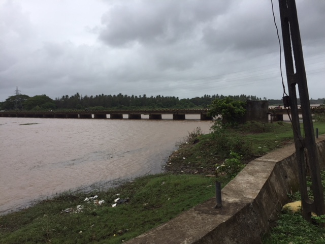MIghty Ambica river and the bridge across