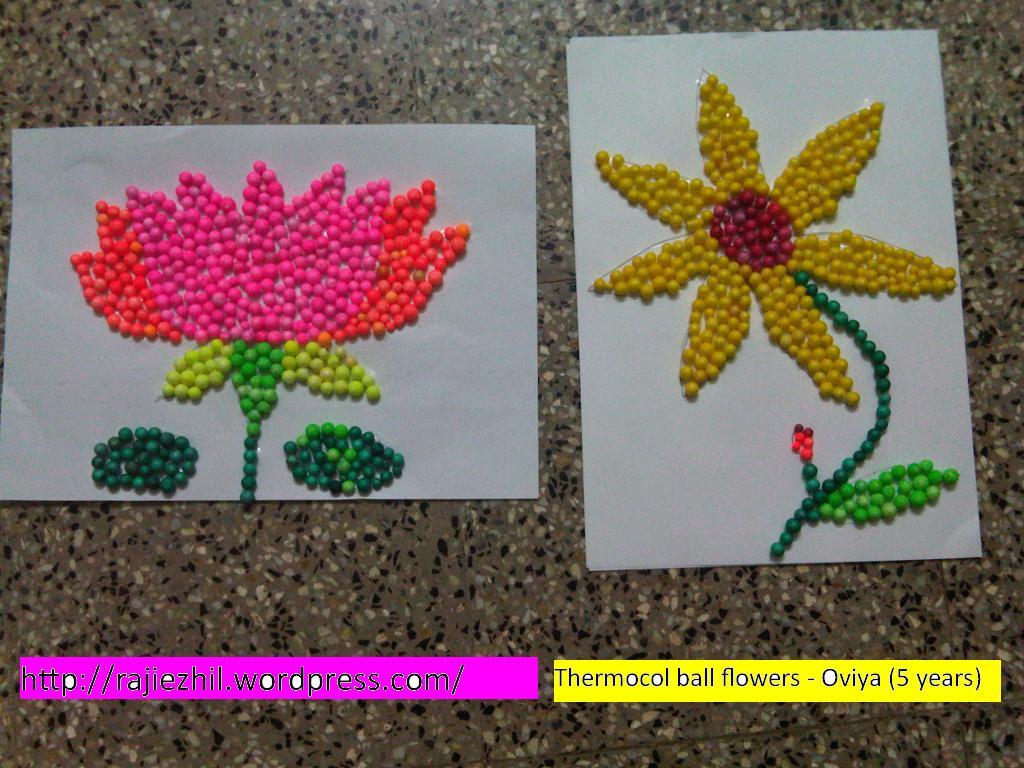 Art Work Using Thermocol Raji And Her Kids