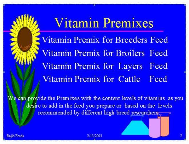 Vitamin Premixes – Rajib Feeds