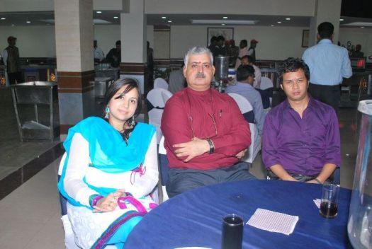 Rajiv Bajaj with faculty of IITTM at freshers party.