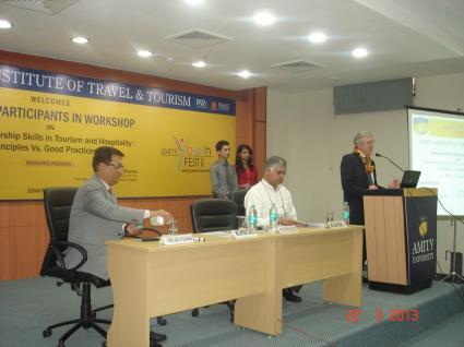 Rajiv Bajaj At Deptt of Tourism & Hospitality of Amity University Noida