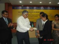 Rajiv Bajaj Presenting certificates to students At Deptt of Tourism & Hospitality of Amity University Noida