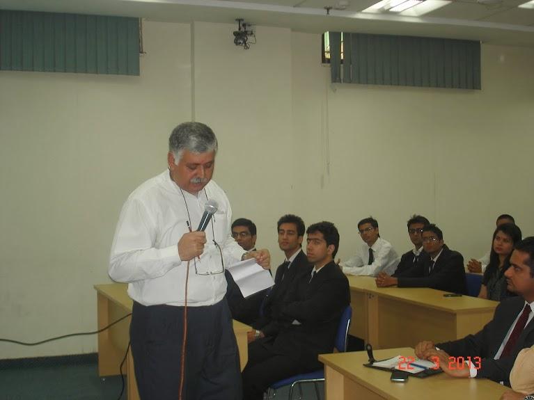 Rajiv Bajaj Addressing students at Amity University Noida