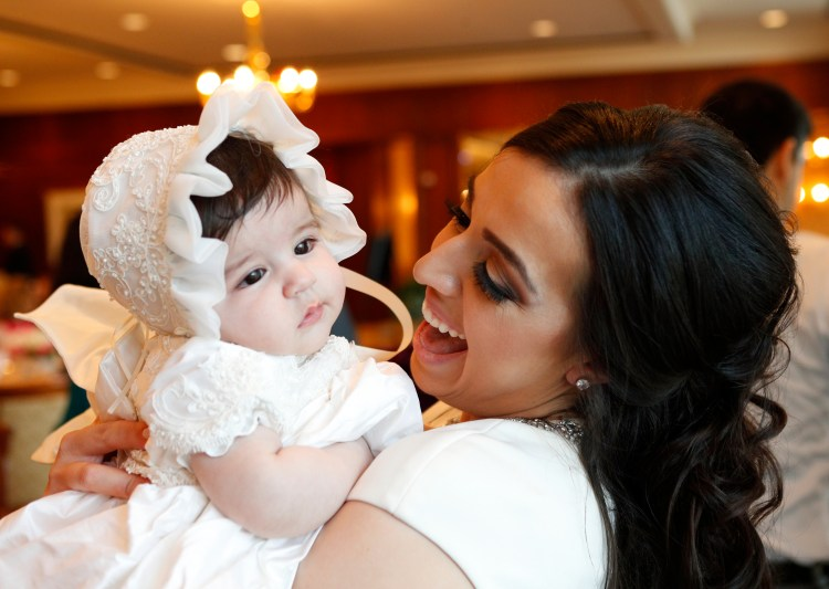 Baptism dinner reception photos in West Bloomfield Township, MI.