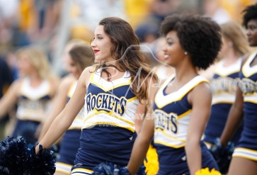Sep 15, 2018; Toledo, OH, USA; Toledo Rockets cheerleaders perform during the first quarter against the Miami Hurricanes at Glass Bowl. Mandatory Credit: Raj Mehta-USA TODAY Sports