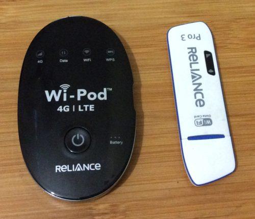 Reliance 4G Wi-Pod