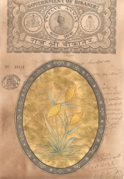 Mugal Flowers on old paper d027