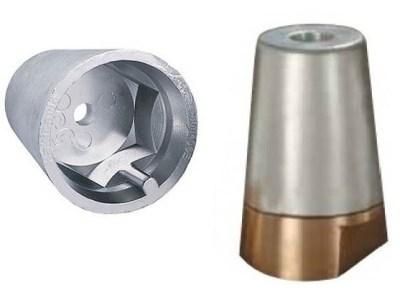 Zinc Anode propeller Hexagonal with Brass Nut