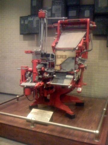 Linotype machine at Washington Post office