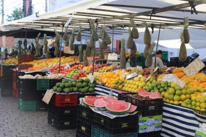 Street market on Saturday morning in Campinas