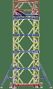 Вышка-тура передвижная 2,0х1,2 со стабилизаторами