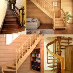 Конструктивные типы внутридомовых деревянных лестниц