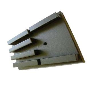 Алмазные франкфурты для мозаично-шлифовальных машин GM-122, GM-245 Сплитстоун по низкопрочному бетону с 6 прямоугольными сегментами
