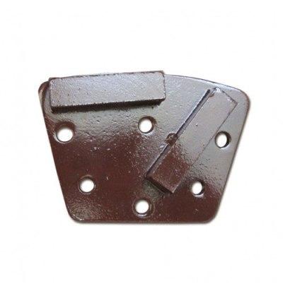 Сегменты шлифовальные алмазные для мозаично-шлифовальных машин SP-GPM по прочному бетону с 2 прямоугольными сегментами