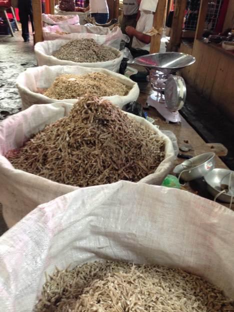 Dried fish at Chichicastenango