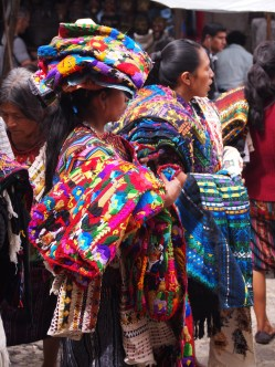 Street vendors at Chichicastenango