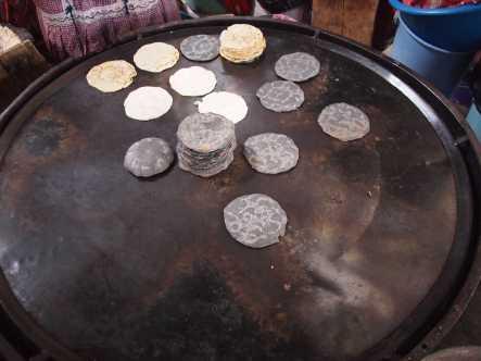 Corn Torillas at Chichicastenango