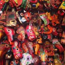 Masks at Chichicastenango