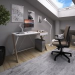 Sidon Home Office Workstation With Pull Out Drawer Rakkaus