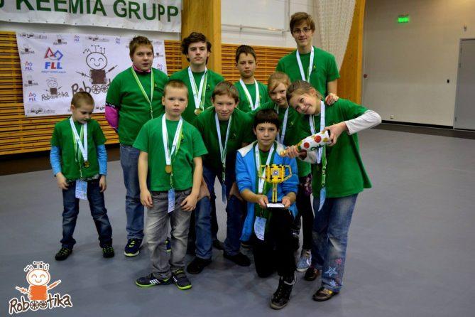 FLL 2016 Kirde Eesti pool finaali auhinna foto