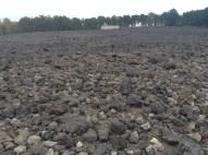 Ein riesieges Schlackefeld steht für die 450.000 ermordeten Juden.