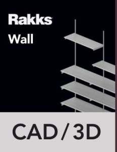 Rakks Wall-mounted Shelving CAD/3D