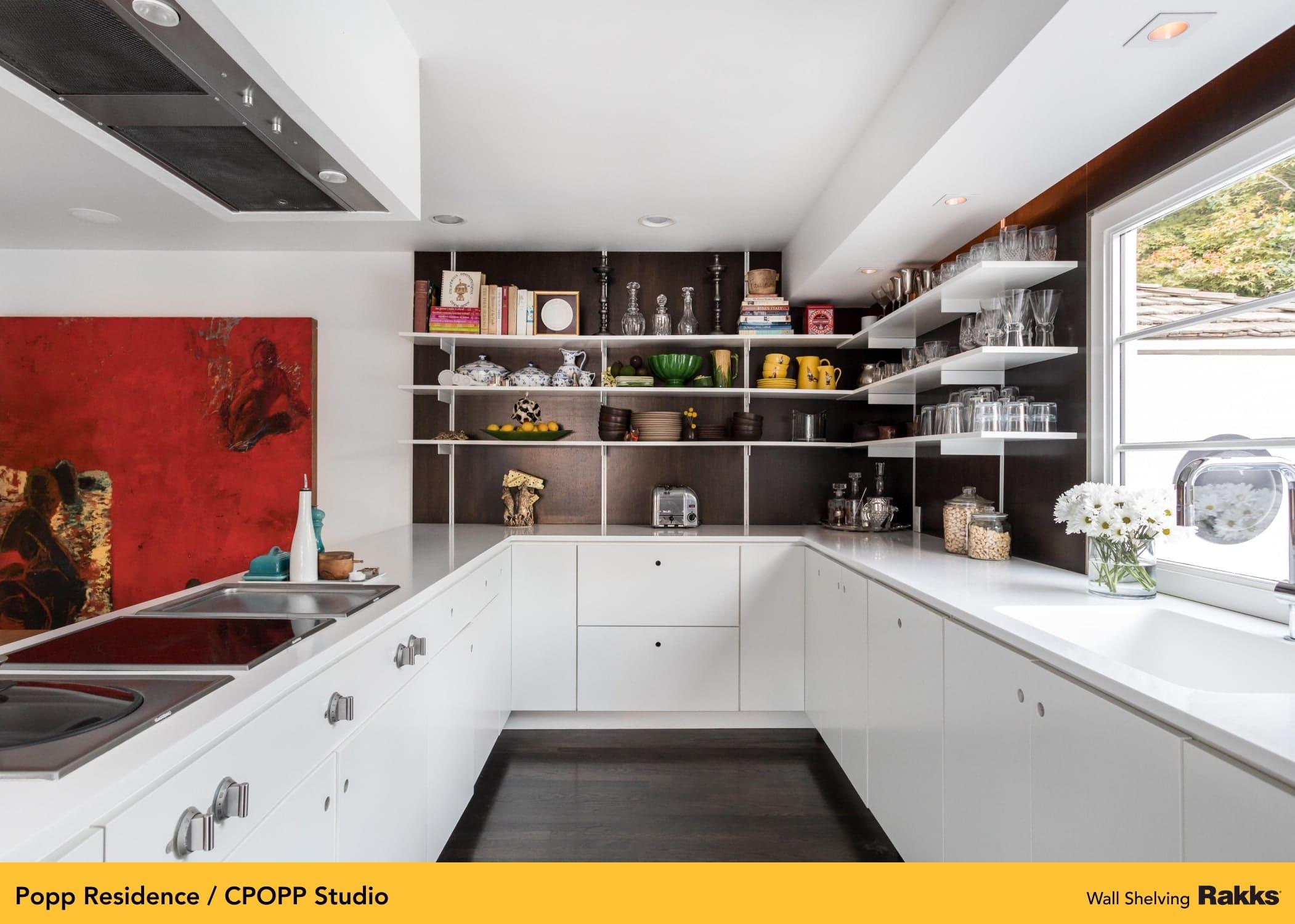 Popp Residence featuring Rakks Wall-mounted Shelving