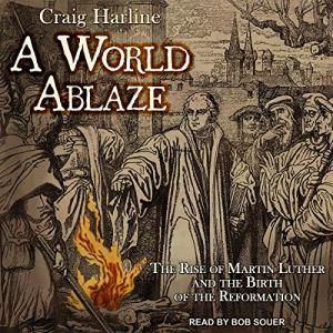 A World Ablaze audiobook cover art