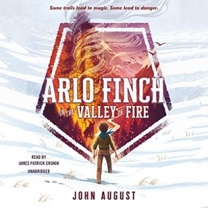 Arlo Finch in the Valley of Fire audiobook cover art