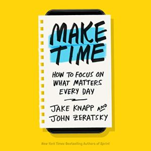 Make Time audiobook cover art