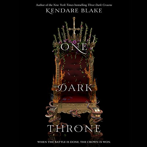 One Dark Throne audiobook cover art
