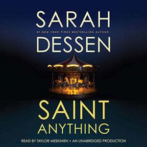 Saint Anything audiobook cover art
