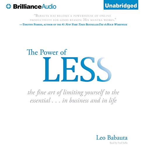 The Power of Less audiobook cover art