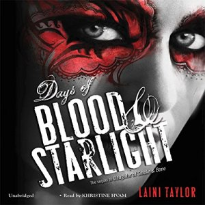 Days of Blood & Starlight audiobook cover art