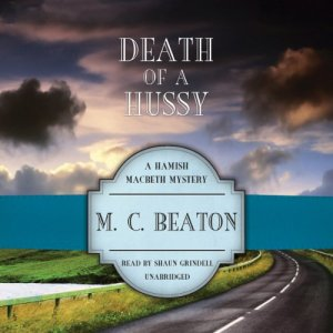 Death of a Hussy audiobook cover art