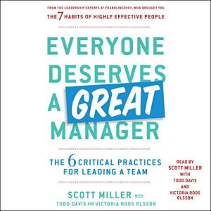 Everyone Deserves a Great Manager audiobook cover art
