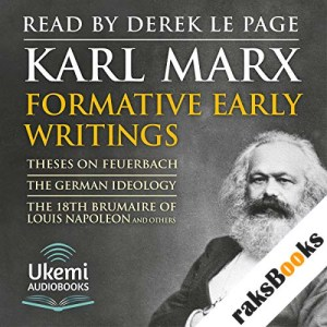 Formative Early Writings by Karl Marx audiobook cover art
