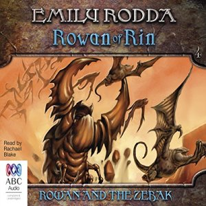 Rowan and the Zebak audiobook cover art