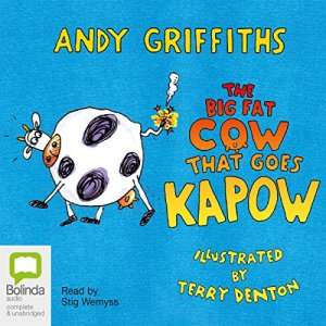 The Big Fat Cow Goes Kapow audiobook cover art
