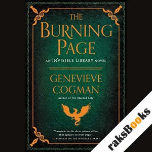 The Burning Page audiobook cover art