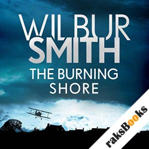 The Burning Shore audiobook cover art