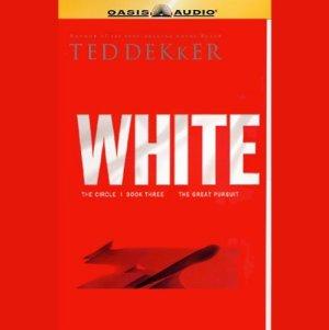 White audiobook cover art