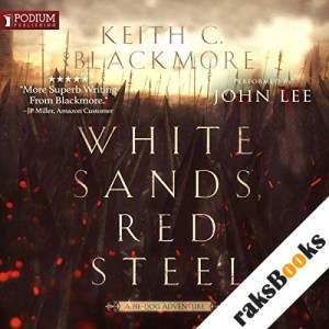 White Sands, Red Steel audiobook cover art