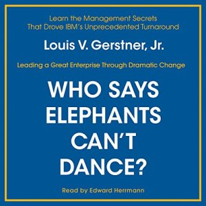 Who Says Elephants Can't Dance? audiobook cover art