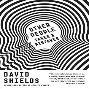 Other People Audiobook By David Shields cover art