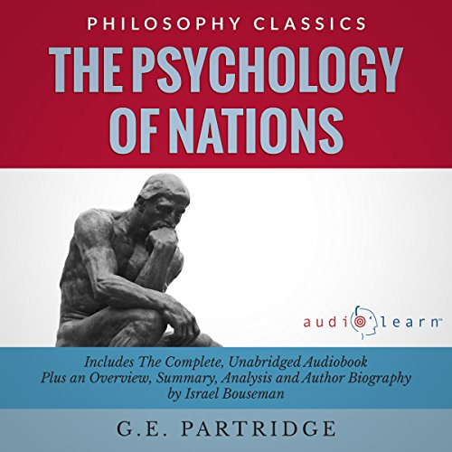 The Psychology of Nations by G.E. Partridge Audiobook By G.E. Partridge, Israel Bouseman cover art