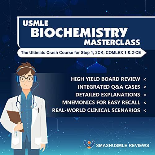 USMLE Step 1 Biochemistry Masterclass Audiobook By Adeleke Adesina cover art