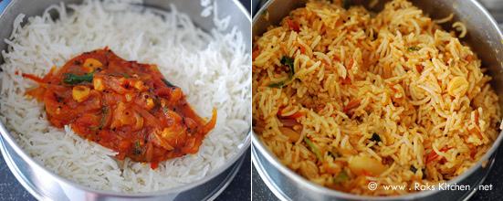 Tomato rice recipe step 4
